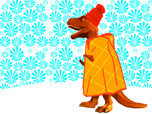 T Rex with cape - Cleverhood