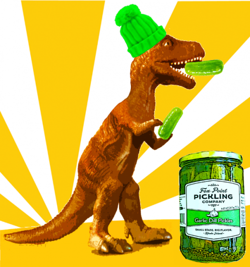 T Rex with Pickles - Fox Point Pickling Company